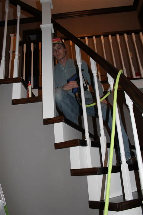How To Install A Stair Banister by Remodelaholic Curved Staircase Remodel With New Handrail
