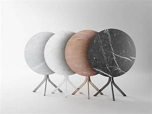 Table Ronde En Marbre : bistro table en marbre by retegui design jean louis iratzoki ~ Mglfilm.com Idées de Décoration