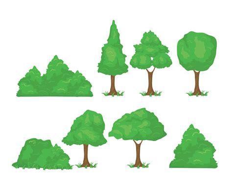 Cartoon Tree Set Vector Art & Graphics