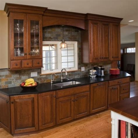 kitchen cabinets cherry finish leaded glass apothecary cabinet height cabinetry 5956