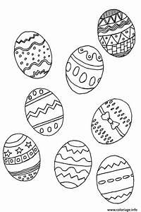 Oeuf Paques Dessin : coloriage oeufs de paques selection dessin ~ Melissatoandfro.com Idées de Décoration