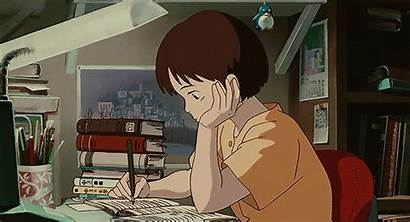 Anime Gifs Aesthetic Ghibli Studying Studio Animation