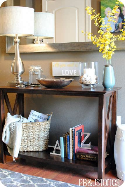 how to decorate a sofa table behind a couch creating a well styled table vignette jenna burger