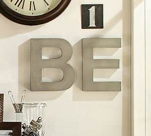 metal letters silver pottery barn With pottery barn name letters