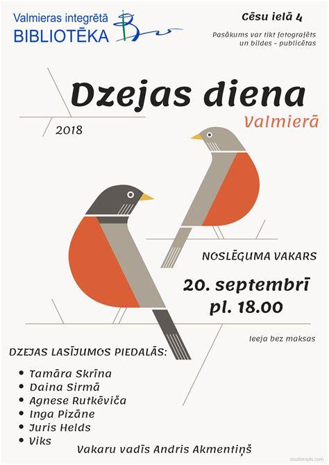 Dzejas diena 2018 Valmierā | Valmieras Bibliotēka