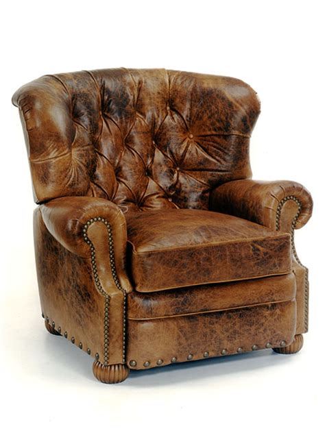 distressed leather recliner bradington leather recliner 3659 cambridge