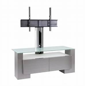 Meuble Avec Support Tv : meuble tv design inox nun 120h de 120 cm meuble tv avec ~ Dailycaller-alerts.com Idées de Décoration