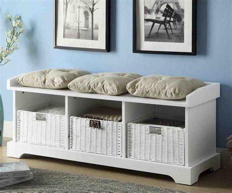 White Wood Storage Bench by White Wood Storage Bench Home Furniture Design