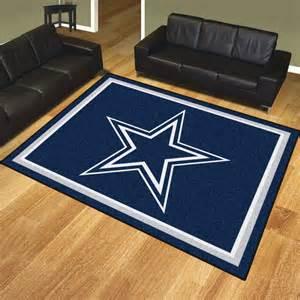 dallas cowboys 8 x 10 ultra plush carpet area rug floor mat
