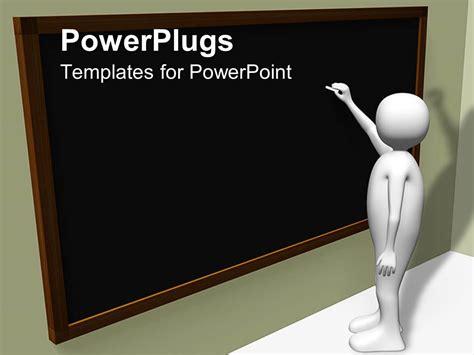 powerpoint template person writing  blackboard