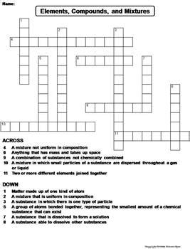 Elements Science 8th Grade Puzzle Worksheets Elements Best Free Printable Worksheets