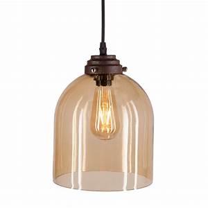 Shantele edison collection light copper clear glass