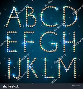 shiny diamond alphabet letters eps10 stock vector With shiny diamond alphabet letters