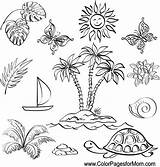 Vacation Coloring sketch template