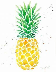 Ananas Aquarell | Aquarell Kunst | Pinterest | Watercolor ...