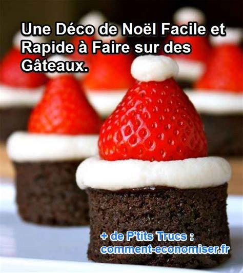 deco de gateau facile gateau noel facile