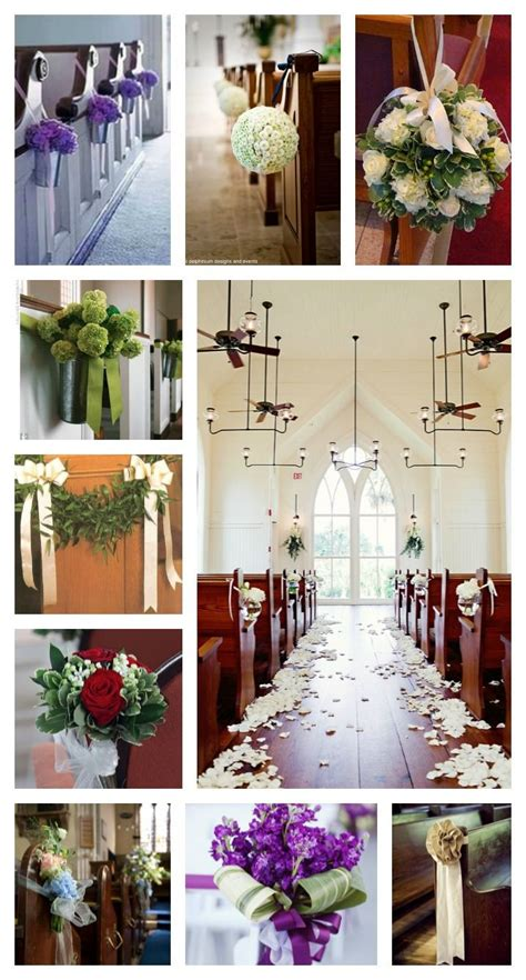 Some Church Wedding Pew Ideas And Inspirations Simple