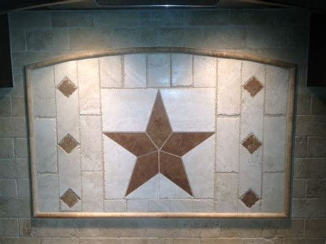 texas star mosaic medallion backsplash floor tile deco