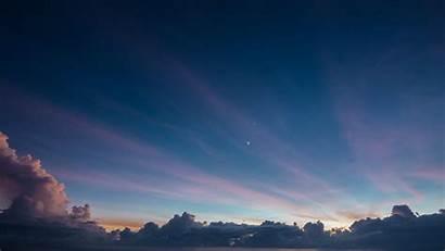 Sky Clouds Evening Landscape Wallpapers Cielo Desktop