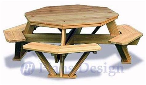 traditional octagon picnic table woodworking plans pattern odf ebay