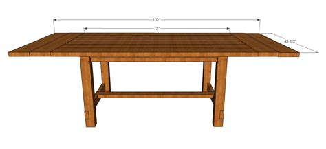 rustic dining table plans  woodworking