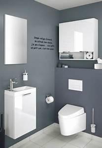 10 deco wc qui soignent les petits coins deco cool With wc suspendu couleur gris 9 le meuble wc archzine fr