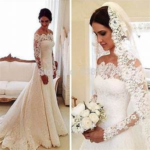 vintage lace long sleeve wedding dresses mermaid 2015 With long sleeve vintage wedding dresses