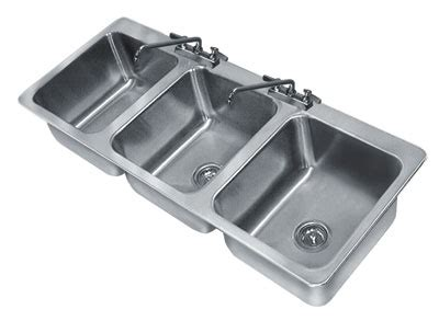 3 compartment sink price advance tabco 3 compartment drop in sinks