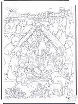 Nativity Coloring Weihnachtskrippe Bible Coloriage Manger Near Noel Crib Die Creche Fargelegg Colorier Adult Owned Anzeige Advertisement Crèche Noël Nativité sketch template