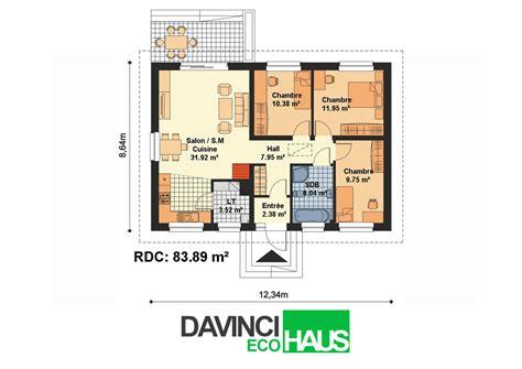 plan maison plain pied 2 chambres plan maison plain pied 2 chambres