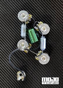 Mojotone Solderless Les Paul Wiring Harness  Long Shaft