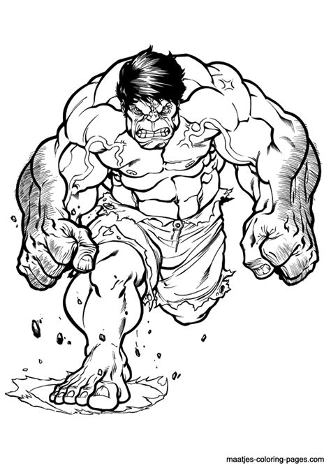 hulk cartoon coloring pages   print