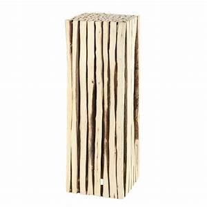 Deko Aus Holz : deko s ule ge aus holz h 95 cm maisons du monde ~ Markanthonyermac.com Haus und Dekorationen