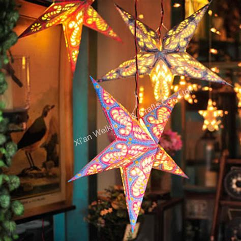 hanging star christmas lights hanging paper christmas star with light buy paper