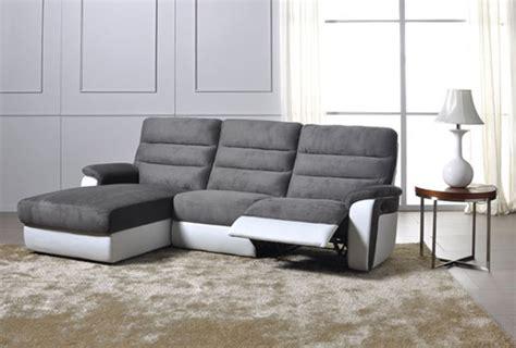 canap relax blanc canapé d 39 angle gauche relax electrique biaritz aruba gris