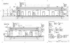 Schnitt Zeichnen Architektur Haus Schnitt Zeichnen