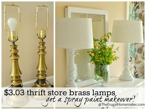 yes you can spray paint those thrift store brass ls