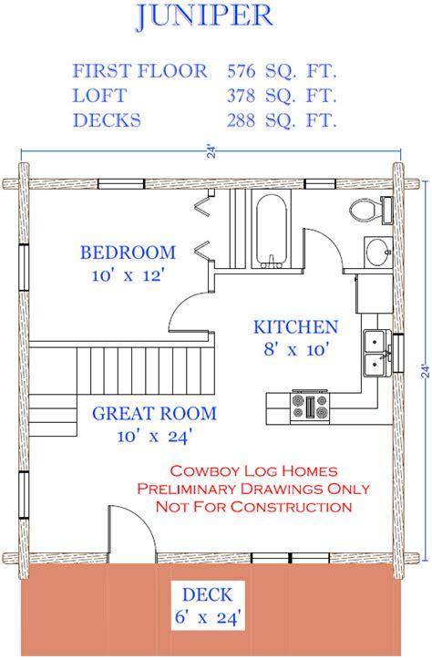 Juniper Plan 954 Sq Ft  Cowboy Log Homes