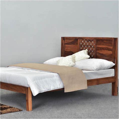Platform Bed Frame by Lattice Solid Wood Rustic Size Platform Bed Frame