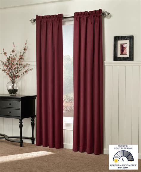 Amazonca Curtain Panels by Sun Zero Alec Thermal Lined Microfiber Curtain Panel 42