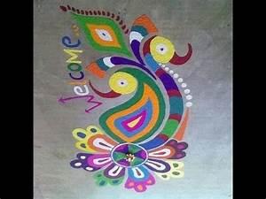 Peacock Rangoli Videos - YouTube