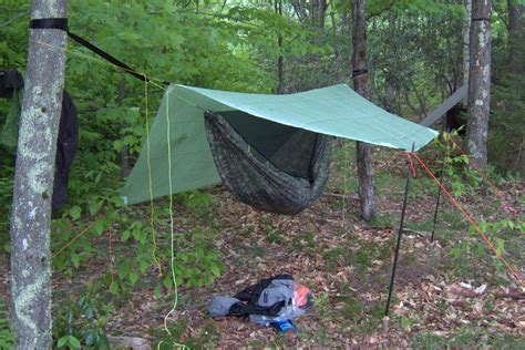 Ultralight Hammock Tarp by Gear List Backpacking Hammock Forest High Use Zone
