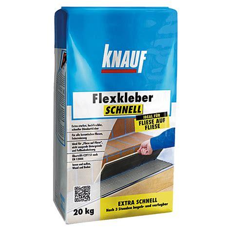 Fliesenkleber Für Feinsteinzeug by Knauf Flexkleber Schnell 20 Kg Begehbar Nach 3 H Bauhaus