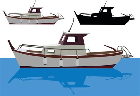 Deep Sea Fishing Boat Vector by Fishing Boat Clip Art Vector Images Illustrations Istock