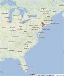 New York City Map of East Coast