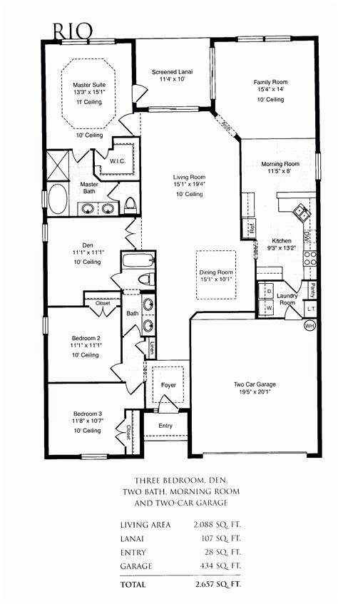 Awesome Single Family Home Floor Plans  New Home Plans Design