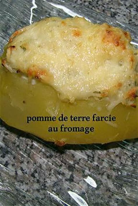 recette de pomme de terre farcie au fromage