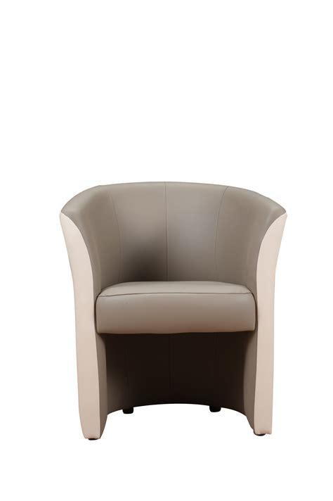 fauteuil cabriolet bicolore taupe ivoire dorine fauteuil