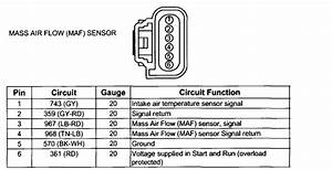 I Need The Wiring Diagram For The Mass Air Flow Sensor To