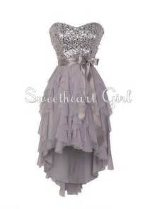 Pretty Sweetheart neckline high - low prom dress / homecoming dress from Sweetheart Girl